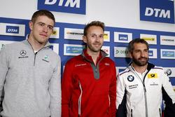 Conferencia de prensa: Paul Di Resta, Mercedes-AMG Team HWA, Mercedes-AMG C63 DTM, René Rast, Audi Sport Team Rosberg, Audi RS 5 DTM, Timo Glock, BMW Team RMG, BMW M4 DTM