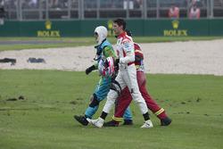 Nick Percat, Brad Jones Racing Holden after his crash