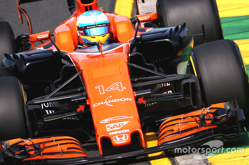 McLaren MCL32, pods de la cámara