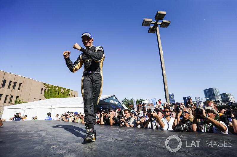 Stéphane Sarrazin, Techeetah, celebrates en el podio