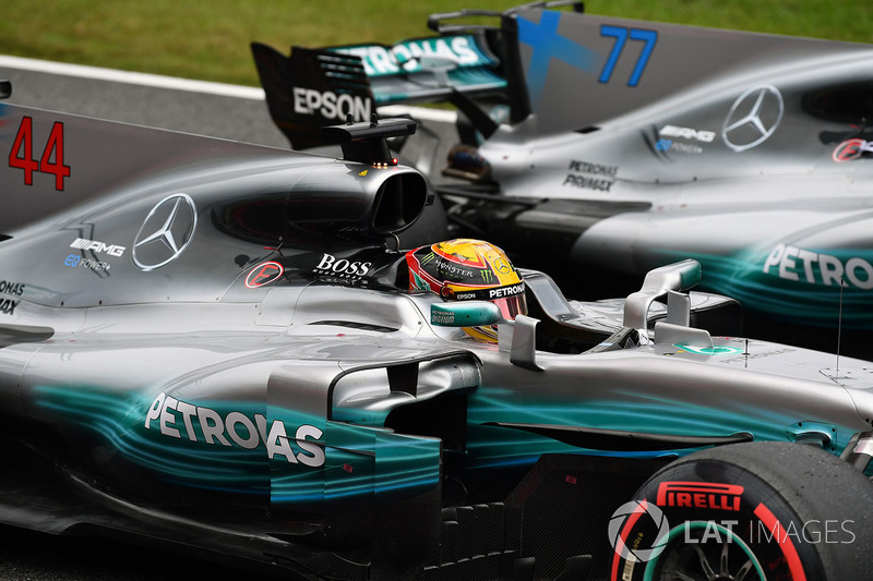 Pole de Lewis Hamilton, Mercedes AMG F1, Valtteri Bottas, Mercedes-Benz F1 W08