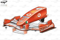 Ferrari F2005 font wing, Italian GP
