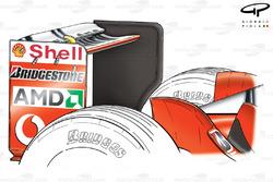 Ferrari F2003-GA (654) 2003 Monza rear wing