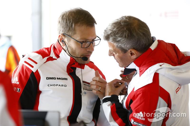 Andreas Seidl, Team principal Porsche Team LMP, Fritz Enzinger, Director Porsche Team LMP1