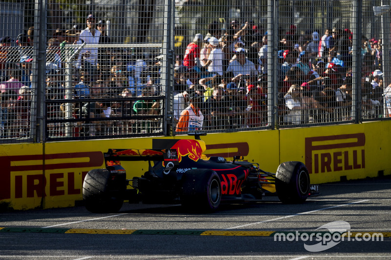 Das geparkte Auto von Daniel Ricciardo, Red Bull Racing RB13