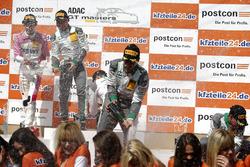 Podium: #28 Montaplast by Land-Motorsport Audi R8 LMS: Sheldon van der Linde, Kelvin van der Linde