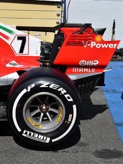 Arrière de la Ferrari SF71H