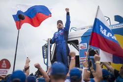 Truck winner Eduard Nikolaev, Team KAMAZ Master celebrates his win