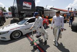 Pietro Fittipaldi, Dale Coyne Racing Honda, Jordan King, Ed Carpenter Racing Chevrolet