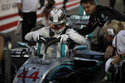 Lewis Hamilton, Mercedes-AMG F1 W09 EQ Power+ on the grid