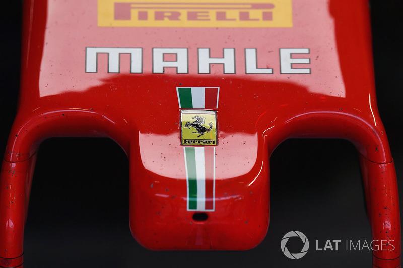Detalle del morro del Ferrari SF71H