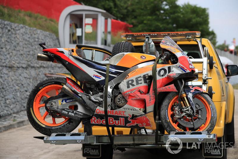 Разбитый мотоцикл Марка Маркеса, Repsol Honda Team
