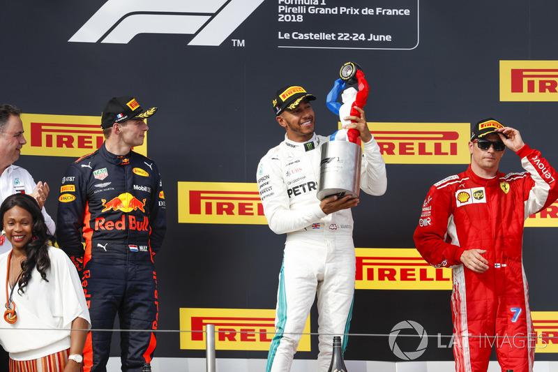 GP de Francia: 1º Hamilton, 2º Verstappen, 3º Raikkonen