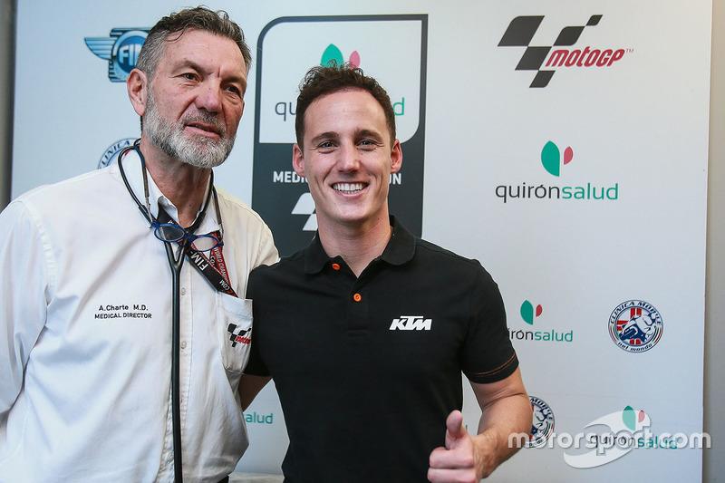 Pol Espargaro, KTM Factory Racing, Dr Angel Charte, MotoGP Medical Director