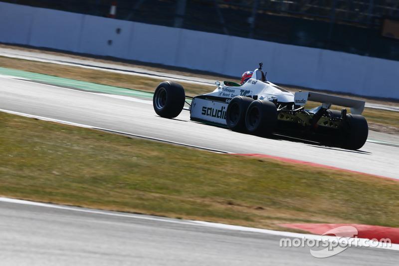Jenson Button pilota a Williams FW08B de 1982