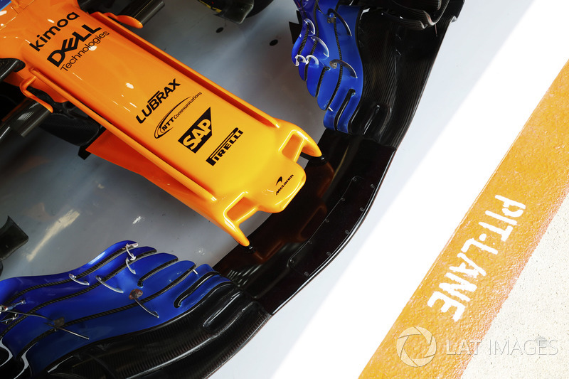 Front wing detail of a McLaren MCL33