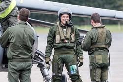 Marco Sörensen mit den Franz. Luftwaffenpilot