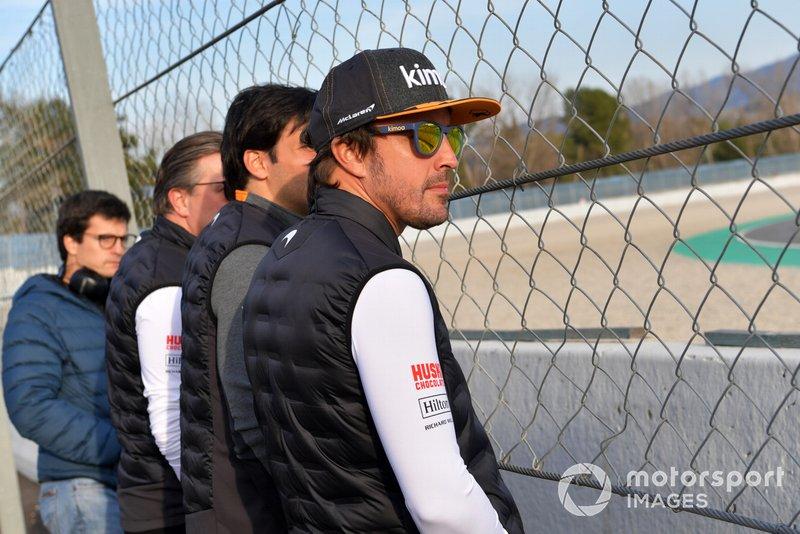 Fernando Alonso en bord de piste