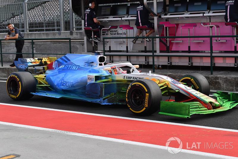 Williams FW41 на тестах в Венгрии