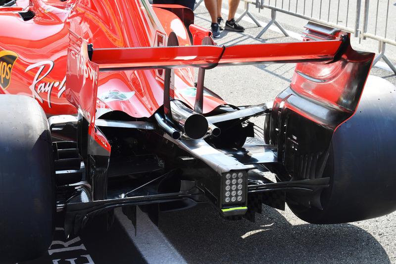 Trasera del Ferrari SF71H