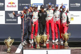 Winnaars Ott Tanak, Martin Järveoja, Toyota Gazoo Racing, tweede Thierry Neuville, Nicolas Gilsoul, Hyundai Motorsport, derde Esapekka Lappi, Janne Ferm, Toyota Yaris WRC, Toyota Gazoo Racing