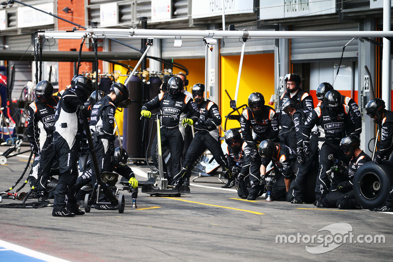 Sahara Force India F1 Team pit stop