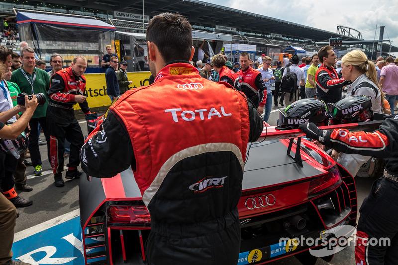 #2 Audi Sport Team WRT, Audi R8 LMS heading to grid