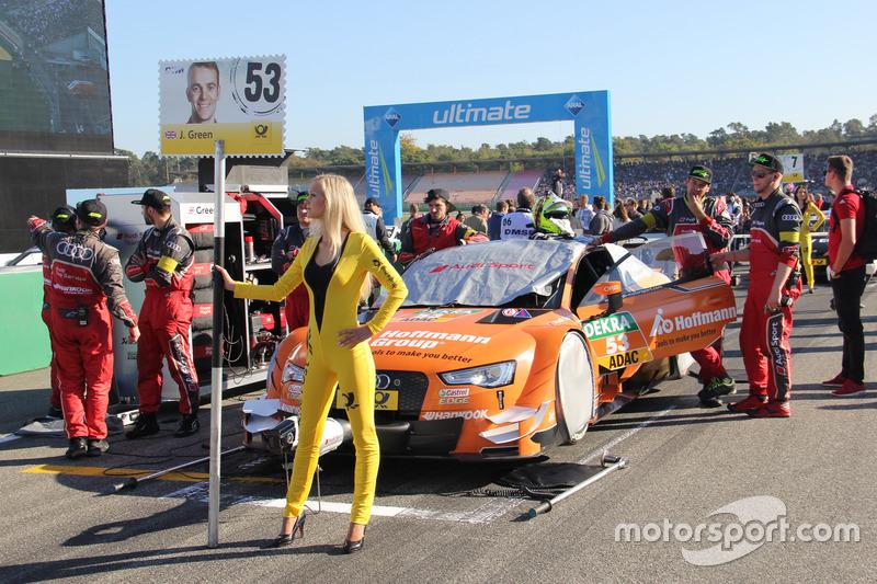 Chica de la parrilla para Jamie Green, Audi Sport Team Rosberg, Audi RS 5 DTM