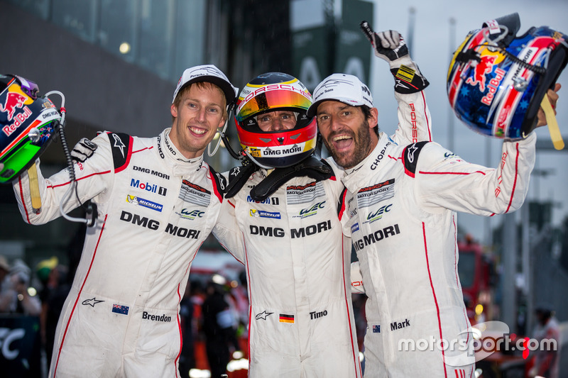 LMP1 winners #1 Porsche Team Porsche 919 Hybrid: Timo Bernhard, Mark Webber, Brendon Hartley