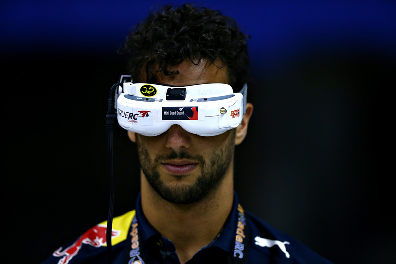 Daniel Ricciardo, Red Bull Racing races a drone