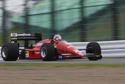 Kazuki Nakajima, drive the Ferrari in a demo run