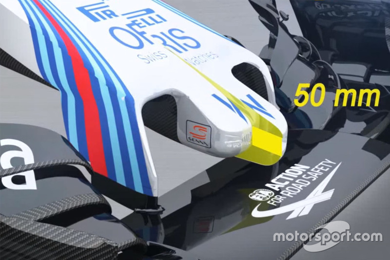 Nase des Williams FW38