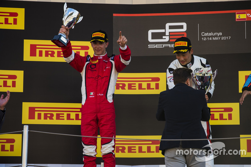 Podium: second place Leonardo Pulcini, Arden International