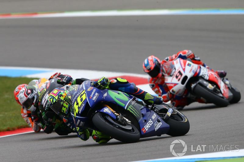 Valentino Rossi, Yamaha Factory Racing y Johann Zarco, Monster Yamaha Tech 3