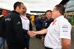 Cyril Abiteboul, Renault Sport F1 Managing Director, Dr Helmut Marko, Red Bull Motorsport Consultant, Christian Horner, Red Bull Racing Team Principal and Zak Brown, McLaren Executive Director
