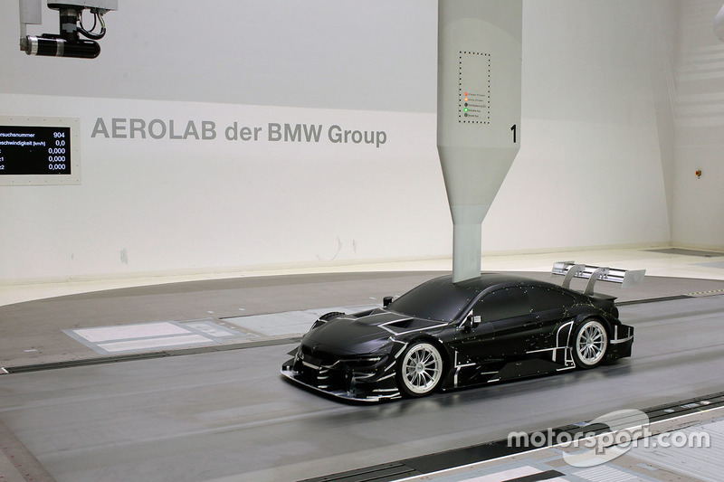 BMW M4 DTM in the wind tunnel