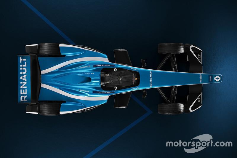 Nueva decoración de Renault e.Dams