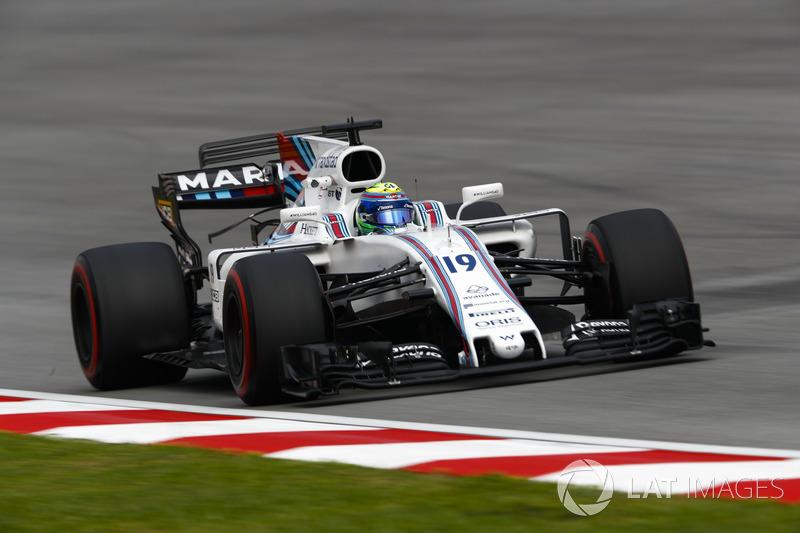 Felipe Massa foi o único que não entrou no TL1 e foi o 12º na segunda sessão.