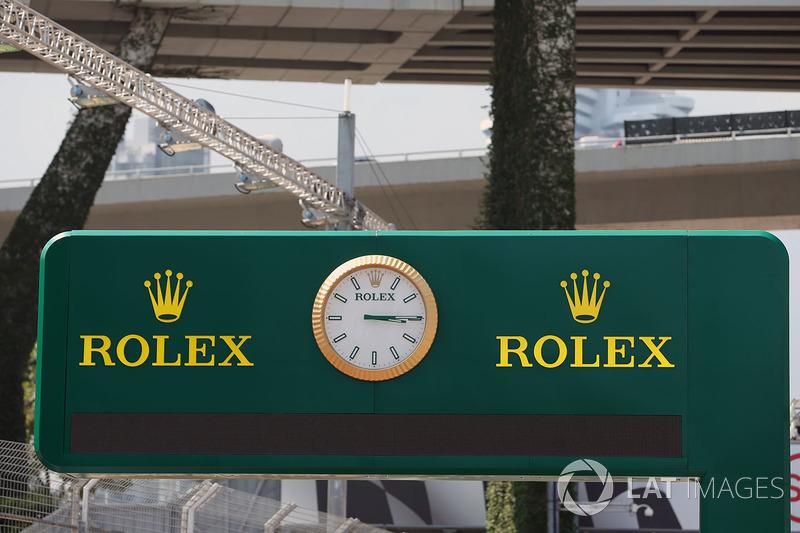 Rolex clock and signage