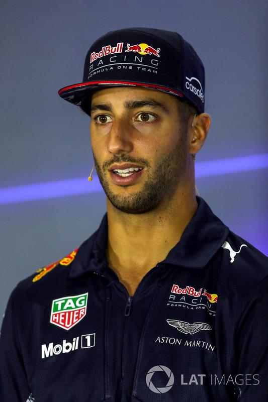 Pressekonferenz: Daniel Ricciardo, Red Bull Racing