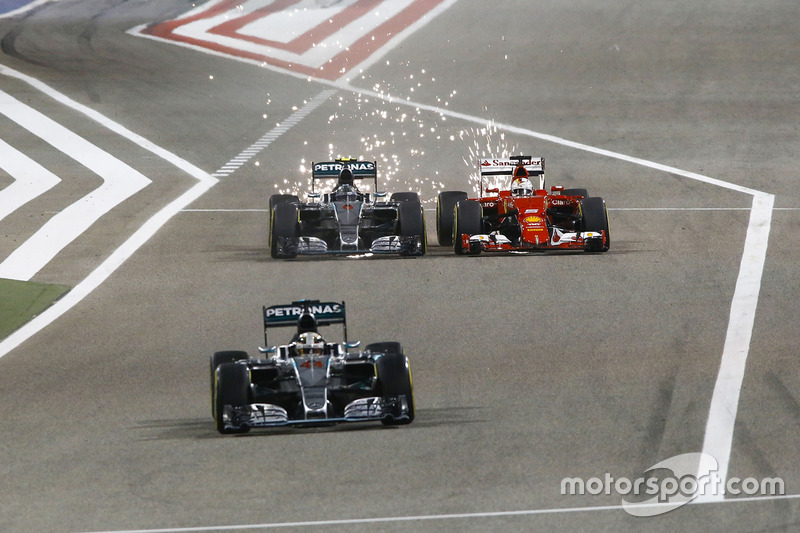 Nico Rosberg, 100 arranques de carrera de Mercedes AMG F1 - Bahrein 2015