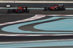 Kimi Raikkonen, Ferrari and Daniel Ricciardo, Red Bull Racing testing the new 2017 Pirelli tyres
