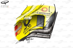 Jordan EJ11 sidepod and floor detail