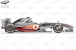 McLaren MP4-24 2009 Jerez test side view