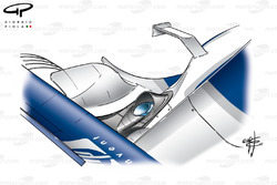 Williams FW24 2002 exhaust outlet top view