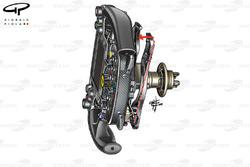 Ferrari SF16-H steering wheel (shows wishbone clutch paddle arrangement)