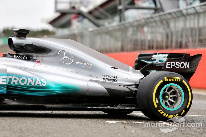 Mercedes AMG F1 W08 Hybrid rear detail