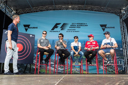 David Coulthard acoge un evento fan con Stoffel Vandoorne, McLaren, Fernando Alonso, McLaren, Felipe Massa, Williams, Kimi Raikkonen, Ferrari y Lance Stroll, Williams