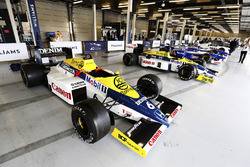 A Williams F10 Honda, FW11 Honda, classic F1 machinery