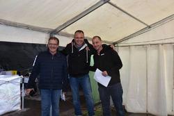 Paul Kasper, Sylvain Burkhalter, Cyrille Crevoiserat, podium Abarth